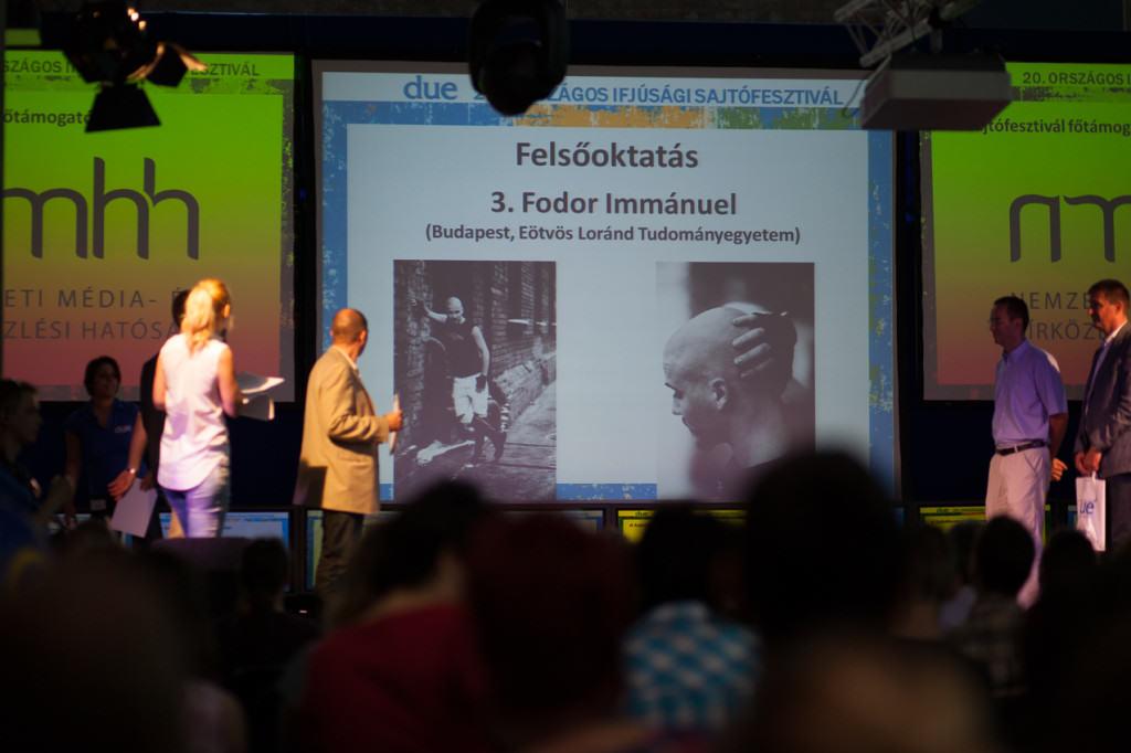 DUE Sajtófesztivál - Az év diákfotósa kategória - díjátadó