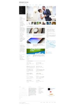 A kezdőlap desktop nézetben